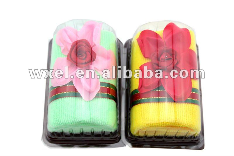 Flower mini swiss roll towel cake/mini christmas gift towel cake/towel