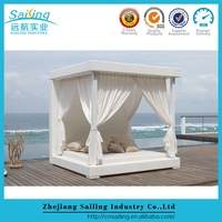 Sailing All Weather Contemporary Rattan Dimensions Outdoor Sun Loungers