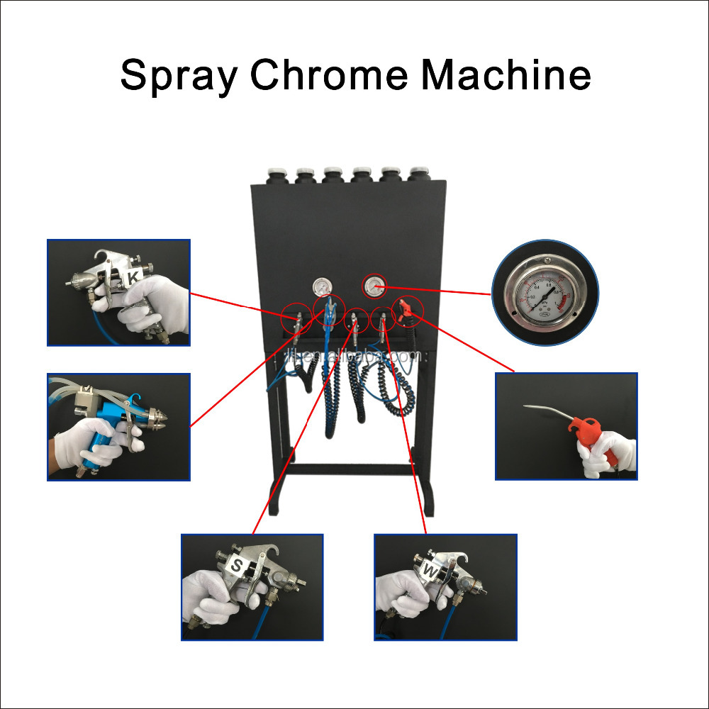 liquid image LYH-CPSM106 Spray metallic chrome spray chrome plating machine spray chrome plating chemicals