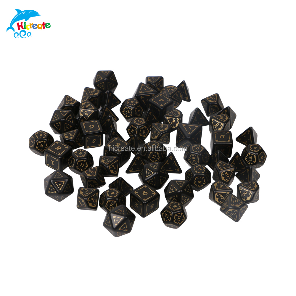 high quality wholesale printed or engraved dice of different side