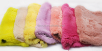 Factory price dyed rex rabbit plate in China