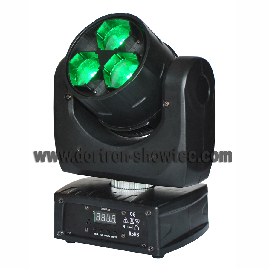 led zoom moving head light 3X15W rgbw 4in1