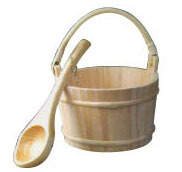 Most durable good quality wooden bucket and spoon