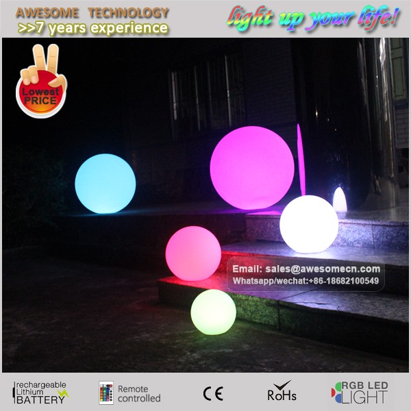 outdoor garden ball globe lights