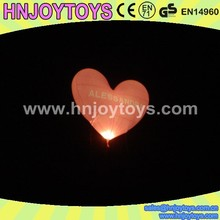 advertising lovely self inflating balloons heart/punch inflated balloon with LED light
