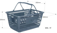 super market plastic shopping basket