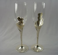 Beauty heart sliver champagne wine glass