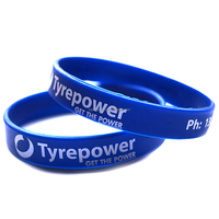 Beautiful custom thin silicone rubber Bracelet with logo