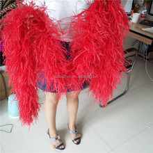 factory price 8 ply cheap ostrich feather boas fluffy soft boa
