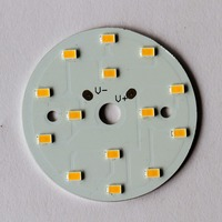 12v white round aluminum base 2 layer led printed circuit board