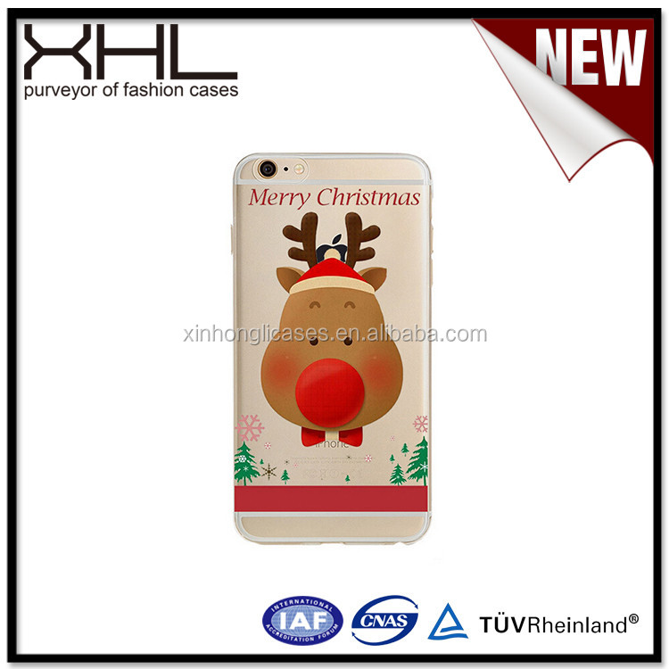 Christmas custom cartoon TPU New Type cell phone case