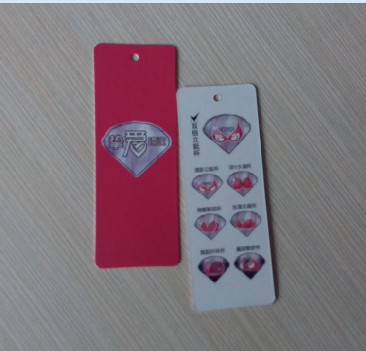 OEM factory printing jeans hang tags design for clothing