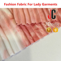 M12468 JC shaoxing wholesale t/dyed bubble chiffon pleated polyester fabric wholesale for fashion dress