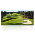 3 PCS/SET Wall Decor Golf Course Canvas Art Prints for Living Room Bed Room Small Size Ready to Hang on Wall