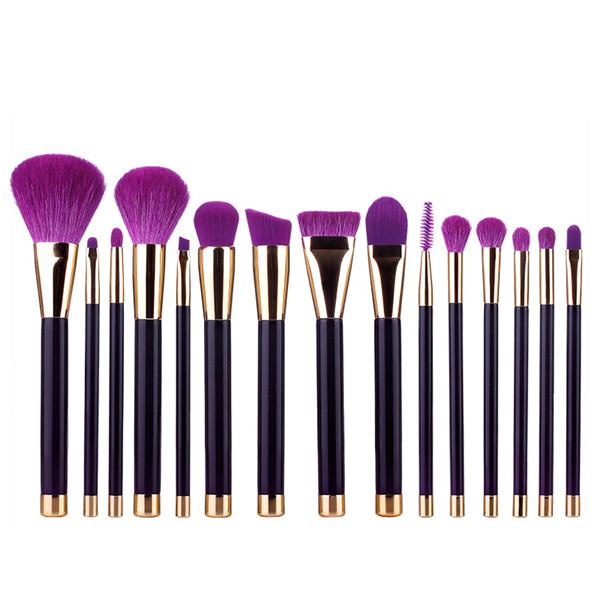 MSQ 15pcs private label face beauty tool makeup brushes