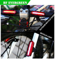 6 mode Super Bright bicycle projector rechargeable led bicycle light usb led bike light