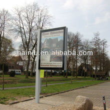 solar power bus shelter with street light advertising road sign