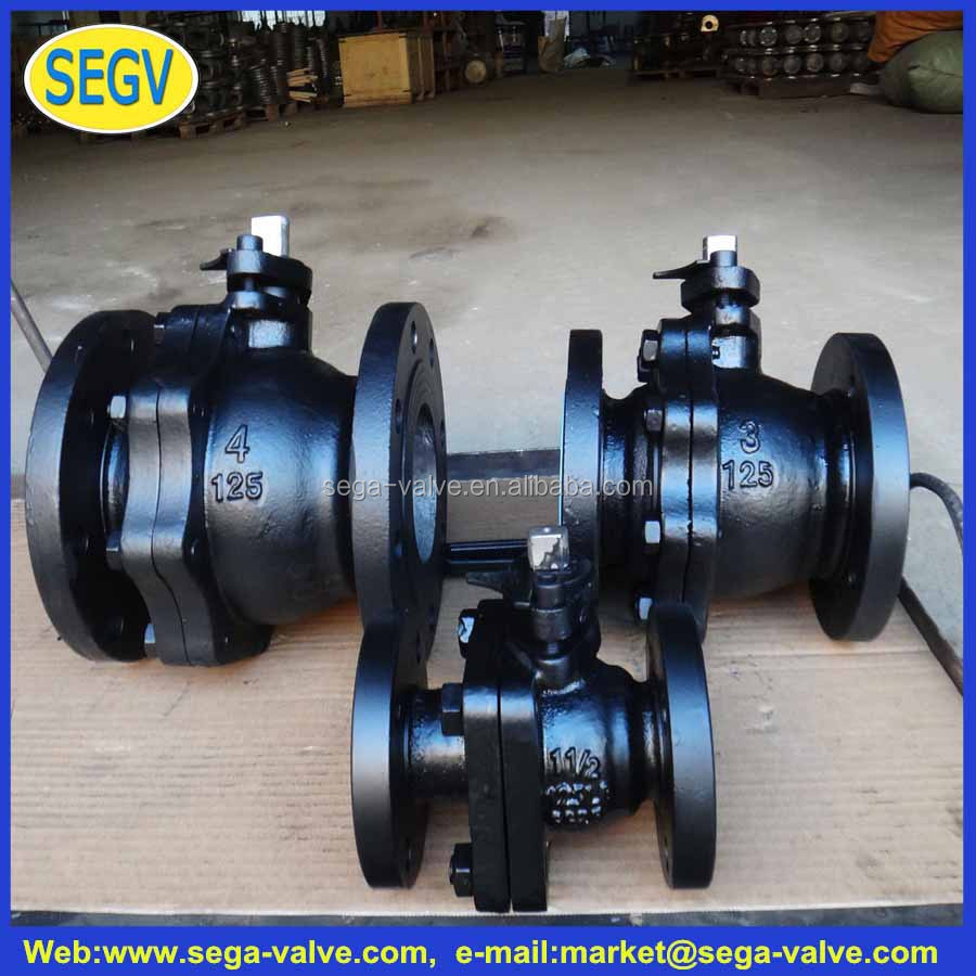hot cold mixing valve flange CI cast iron ball valve