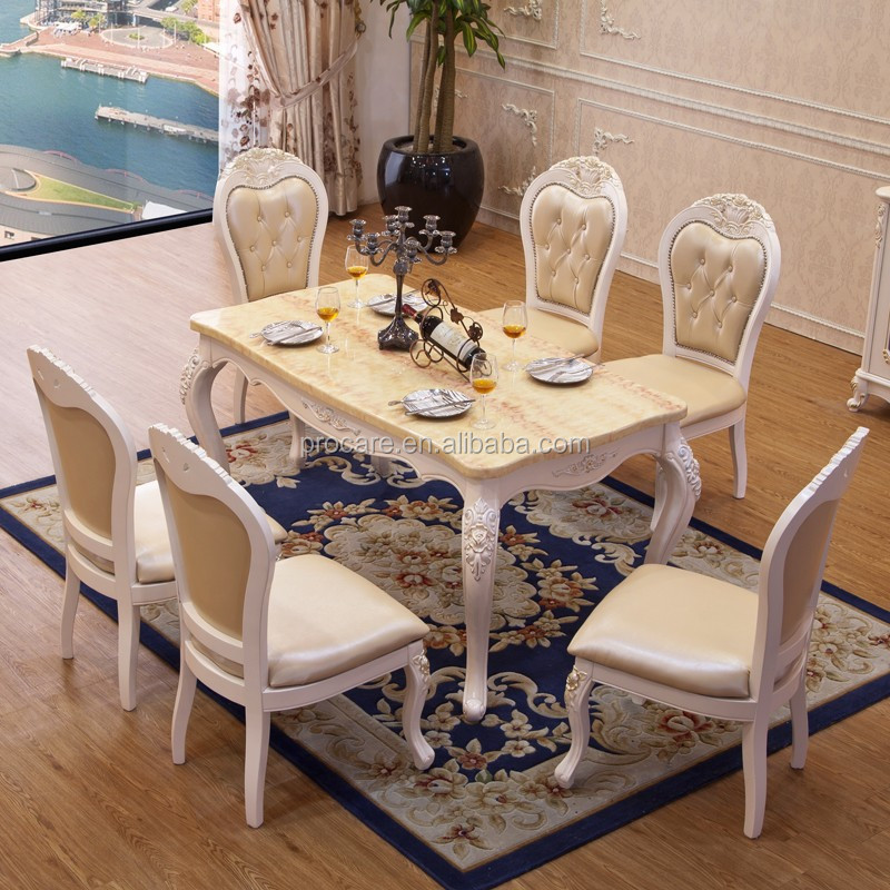 Marble dining table price with wooden dinning chair indoor - Marble dining table prices ...