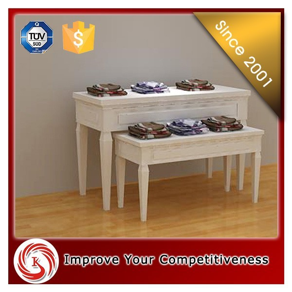 2 tiers classical style retail shoe display stand, wooden wall shelf for rotating shoe rack