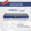 1U 2 PON Ports EPON OLT Support High Performance Layer 3 Switching with 2 SFP Fiber and 2 RJ45 Uplink