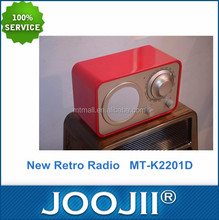 Home Using Portable Retro Style Radio AM FM
