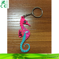 Design your own rubber keyring PVC custom key chain