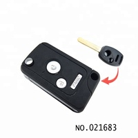 High quality 3 button remote control modified car flip remote key shell for Honda 021683