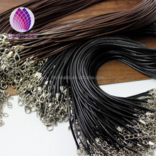 Waxed cord braided necklace cord 1.5mm width 45cm length +5cm extension cord