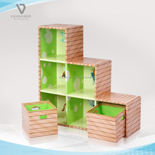 Kids Cardboard Display Rack Children Bookcase