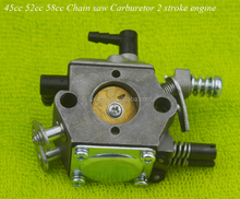 45cc 52cc 58cc Chain saw Carburetor 2 stroke engine 4500 5200 5800 chainsaw