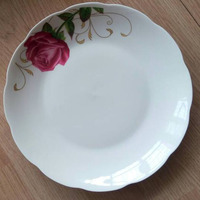 "light decorate 9"" ceramic plates and dishes for fruit"