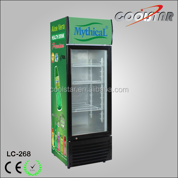 268L new model upright beverage cooler commercial refrigerated showcase