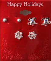 Manufacturer Direct Sale Europe &American Style Cute Christmas Jewelry Earrings