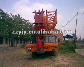 high efficiency 120t Japan KATO hydraulic lorry truck crane