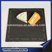 Black slate natural pizza tray