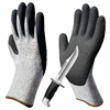 ZMSAFETY 13G HPPE level 5 Sandy Finish Nitrile Coated Cut Resistant Glove for Construction