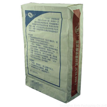 concrete mix/cement/mortar/filler kraft paper bag with valve
