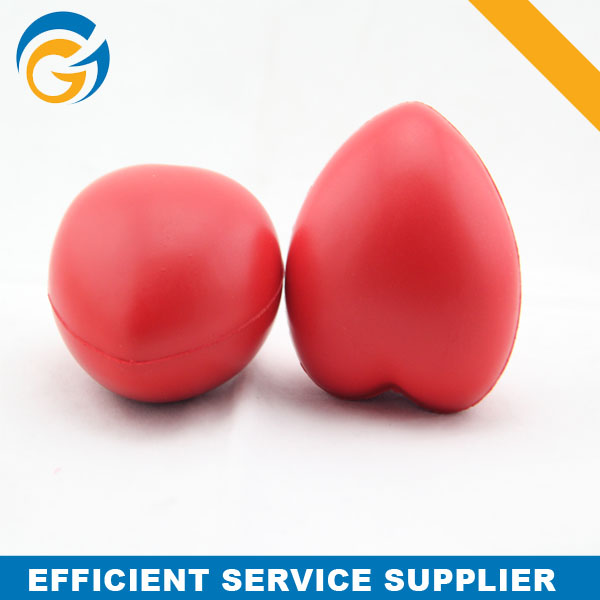 Logo Printed Heart Shape Designed Anti Stress Ball
