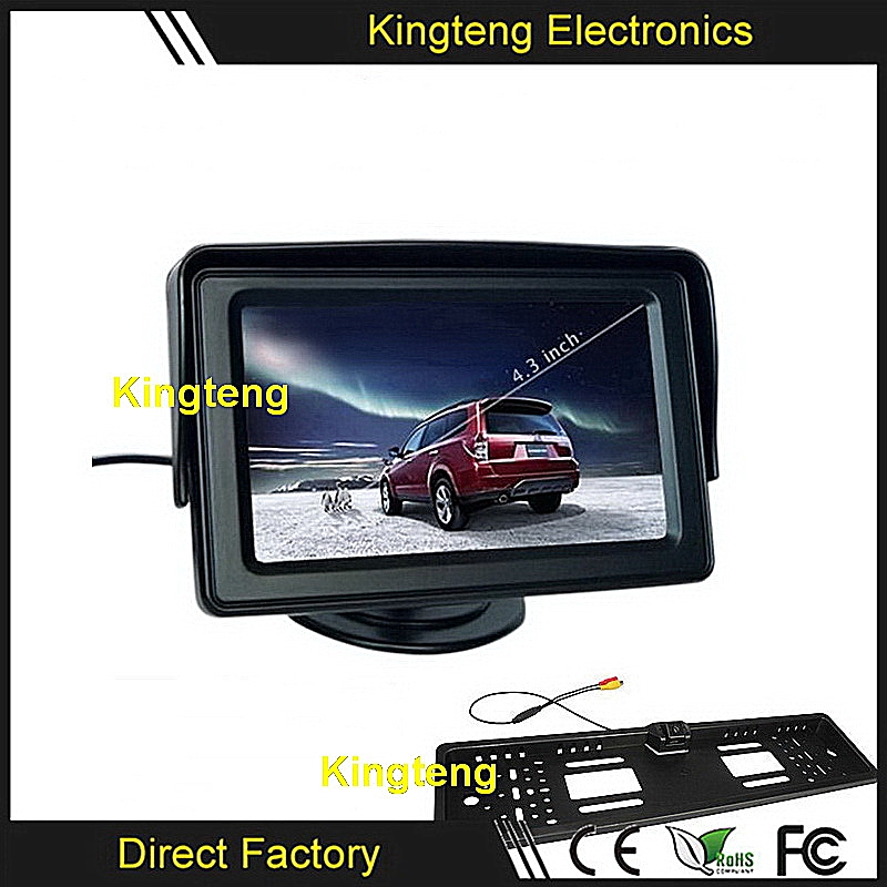 Kingteng Factory Price 4.3 Inch Dashborad Monitor Reverse Parking Sensor Car Camera System