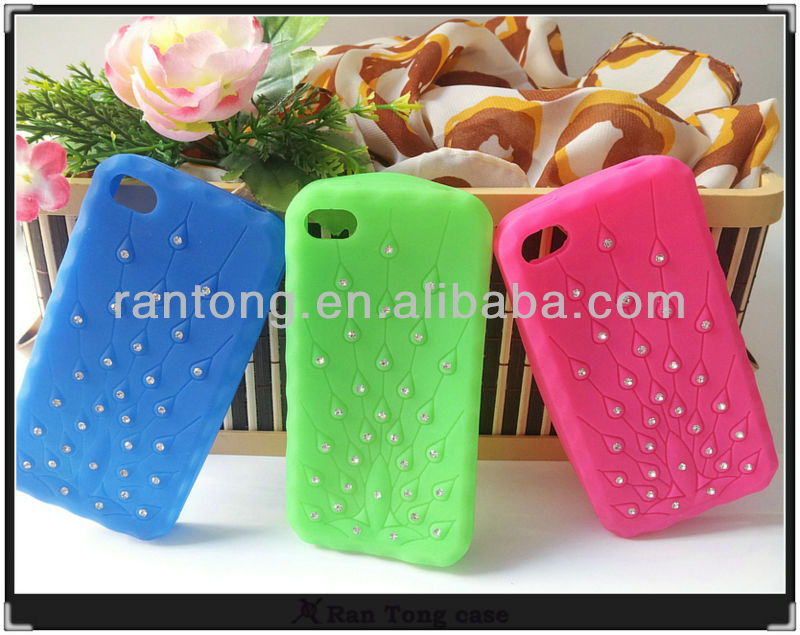 wholeasle luxury star bling silicone cell phone case for Iphone 4/4s