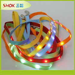 CE hot led dog collar pet collar slide letter dog collar