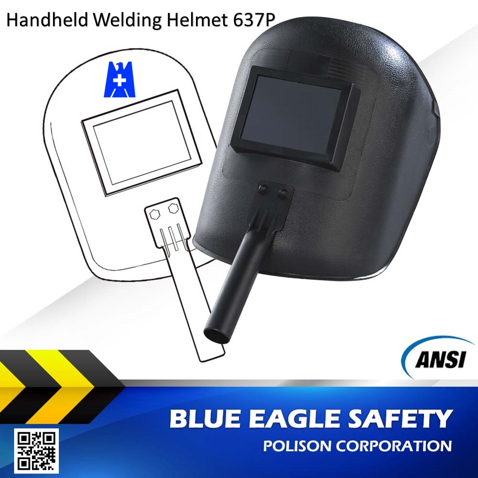 Blue Eagle Safety ANSI Z87.1 Hand Held Welding Helmet