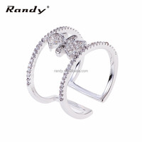 Wholeasale Fashion Hip Hop Style Girls Design Open Ring Jewelry