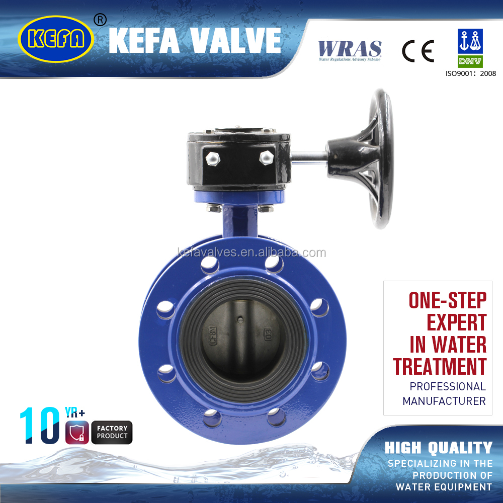 flanged butterfly valve DN100 with handwheel