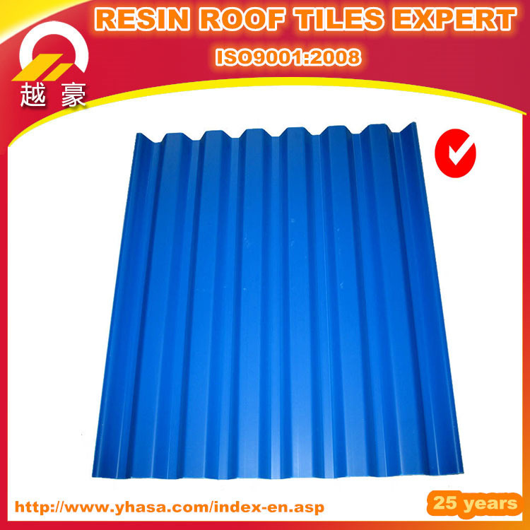 blue color roof tiles/best price of corrugated pvc roof sheet