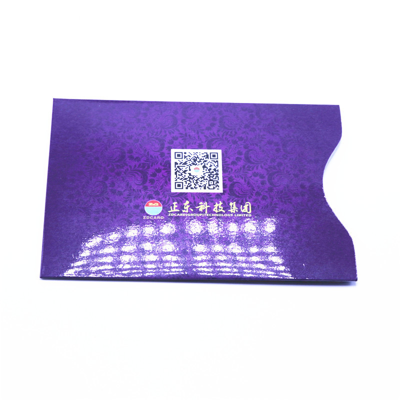 Plastic RFID Blocking Sleeve Credit Card Holder