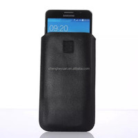 lamskin leather Pull Tab Cover Mobile Phone Pouch Case for samsung galaxy note 3 n7100