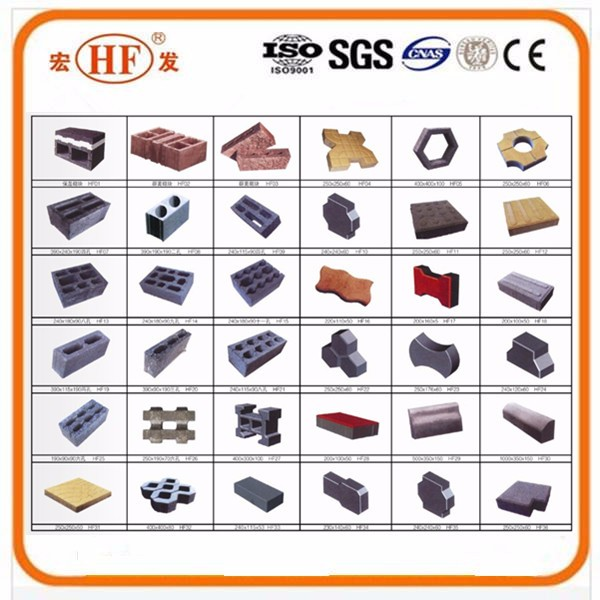 Best selling and quality small concrete hollow block&solid brick producing equipment machine made in China
