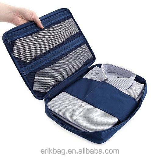 Multi-functional Travel Shirt Tie Organizer bag/luggage Clothes Packing Bag Case for Men